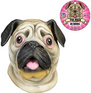 The Rubber Plantation TM 619219293464 Pug Dog Latex Mask Canine
