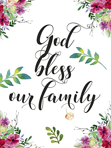 com god bless our family blessing quote unframed poster a