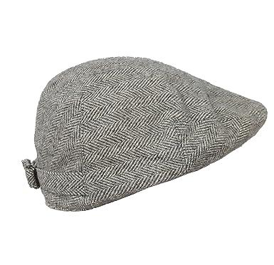 dfb9e7e90 Ralph Lauren S M - Grey Wool Blend Tweed Herringbone Drivers Flat Cap Polo   Amazon.co.uk  Clothing