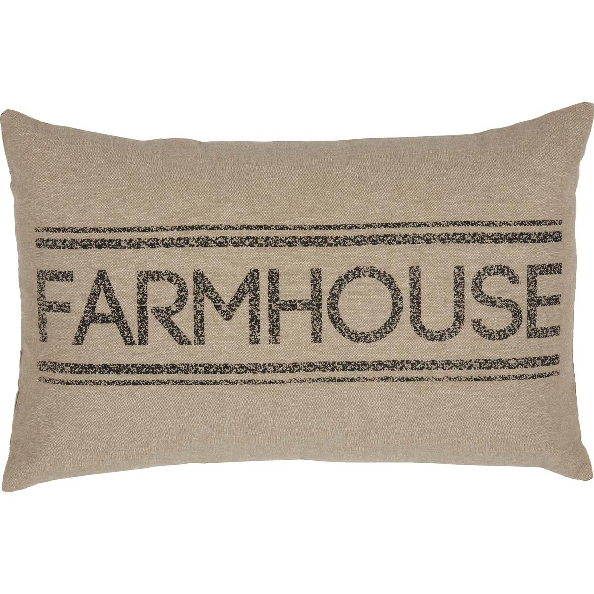 farmhouse pillow linen grainstripe farmhouse style pillow