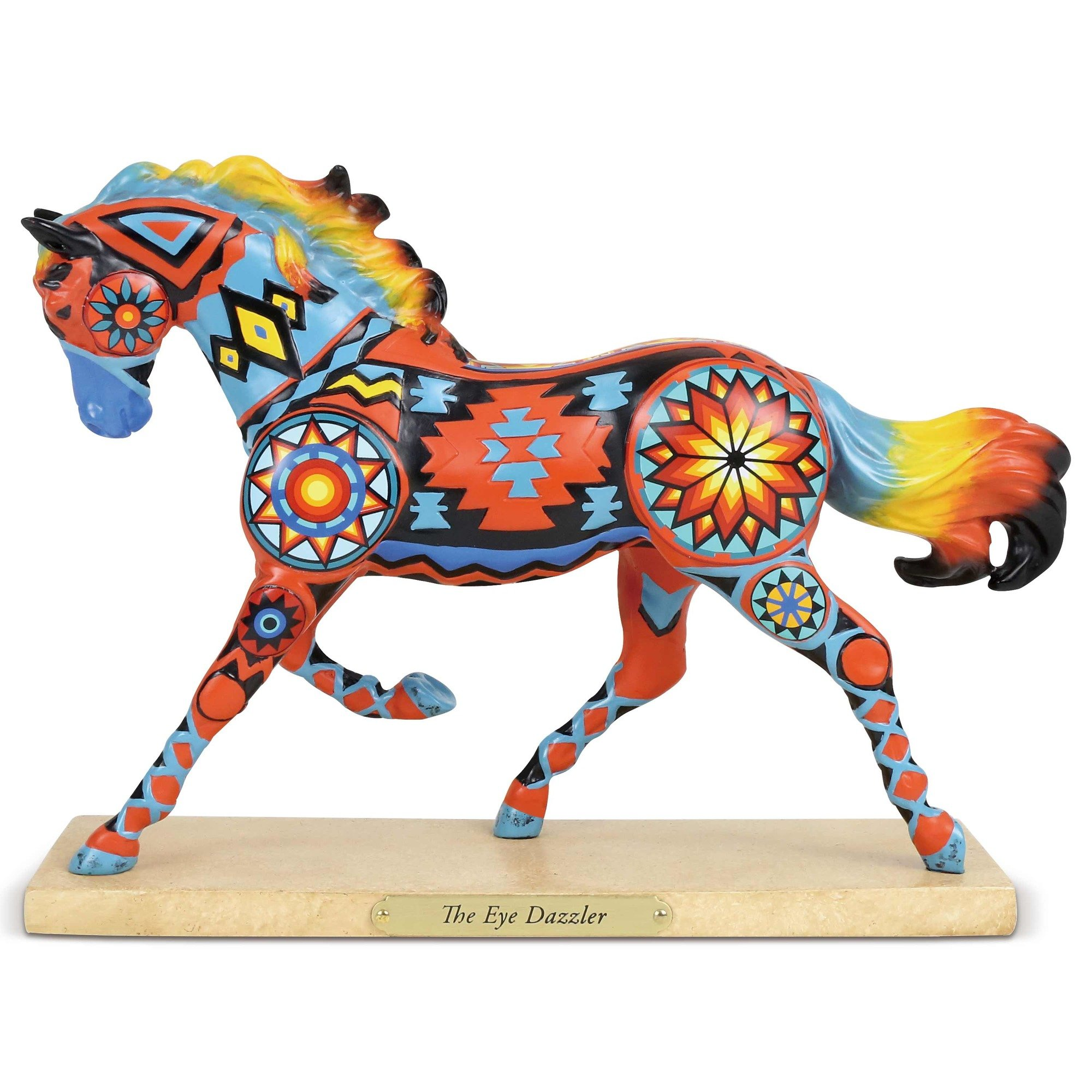 "Enesco Trail of Painted Ponies ""The Eye Dazzler"" Stone Resin Figurine, 6.5'', Multicolor"