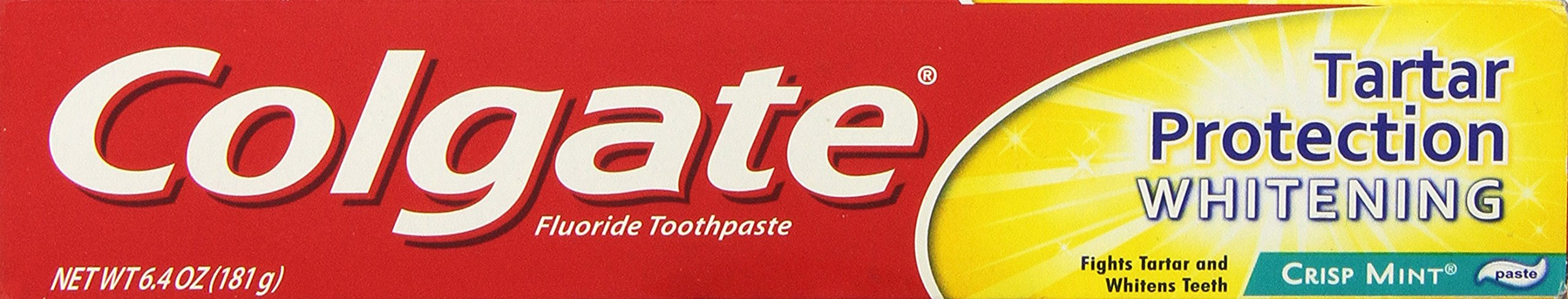 Colgate Tartar Control Whitening Fluoride Toothpaste, Crisp Mint Paste , 6.4 oz (181 g)