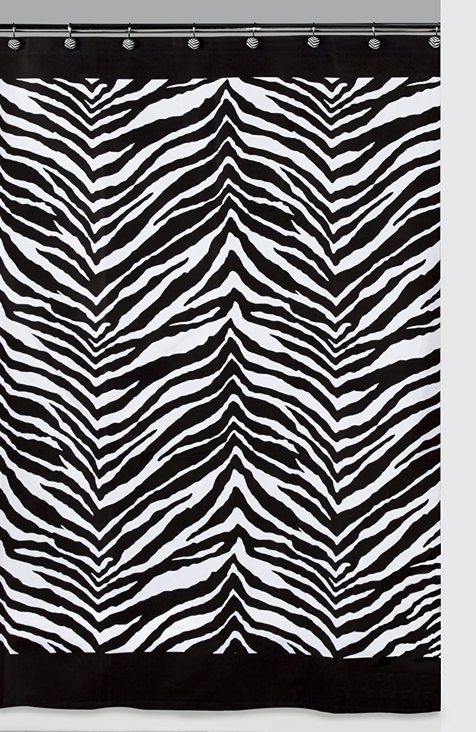 Amazon.com: Creative Bath Products Inc. S1050BW Zebra Shower ...