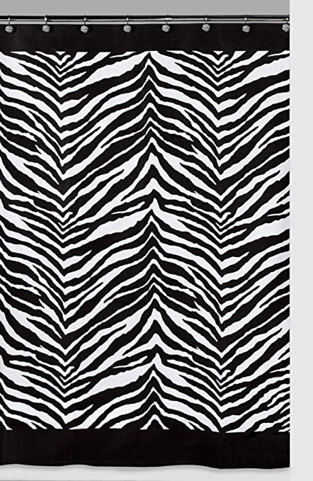 Amazon Creative Bath Products Inc S1050BW Zebra Shower Curtain