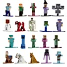 "Jada Toys Minecraft 20 Pack Wave 2 Die-Cast Figure, 1.65"" Scale, Collectible Figurine, 100% Metal"