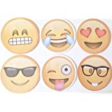 Emoji Sticky Notepads 12 Pack, 6 Different Faces (Designs) Lifetime