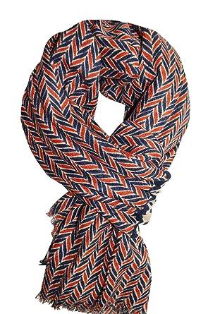 KARL LOVEN Femme - écharpe - ethnique - pashmina - foulard - cache-col -  Coton Viscose (1M80, Rouge-Café)  Amazon.fr  Vêtements et accessoires 9c09d8851bf
