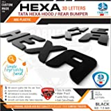 CarMetics Hexa 3D Letters Glossy Black - tata Hexa Accessories car Sticker car 3D Letters