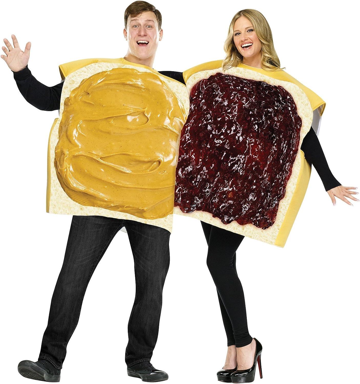 Paire Costume Beurre de Cacahuètes U marmelades TOAST SANDWICH déguisement mardi gras fête