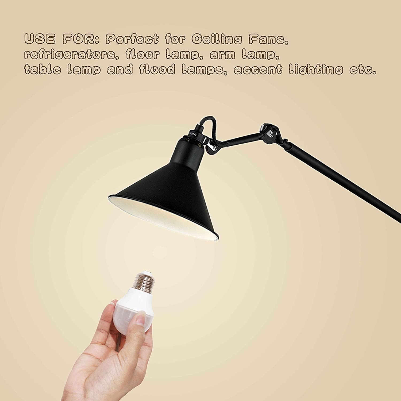 A15 LED Light Bulbs 40 Watt Equivalent,3000K Soft White Non Dimmable LED Bulbs for Home,Medium Base E26 LED Home Lighting 120v 360lumens LED Ceiling Fan Bulb-12 Pack WELLHOME