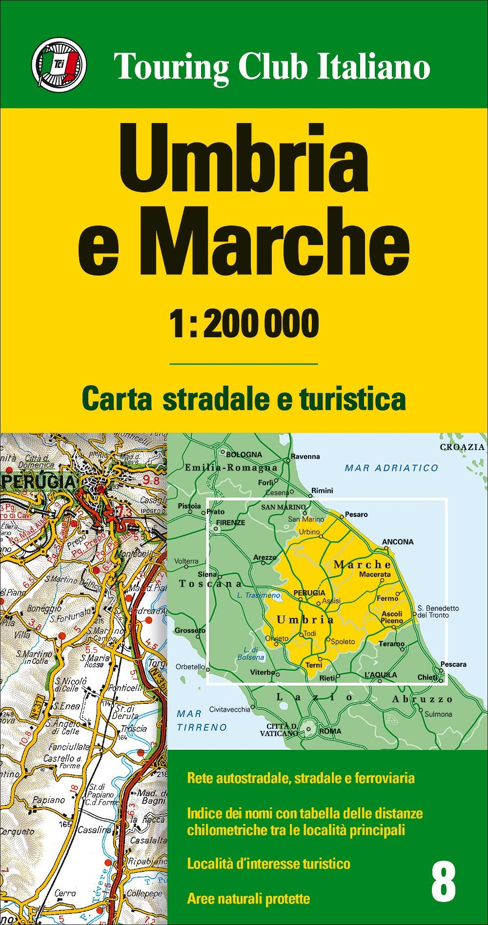 Cartina Stradale Toscana Umbria.Amazon It Umbria Marche 1 200 000 Ediz Multilingue Aa Vv Libri In Altre Lingue