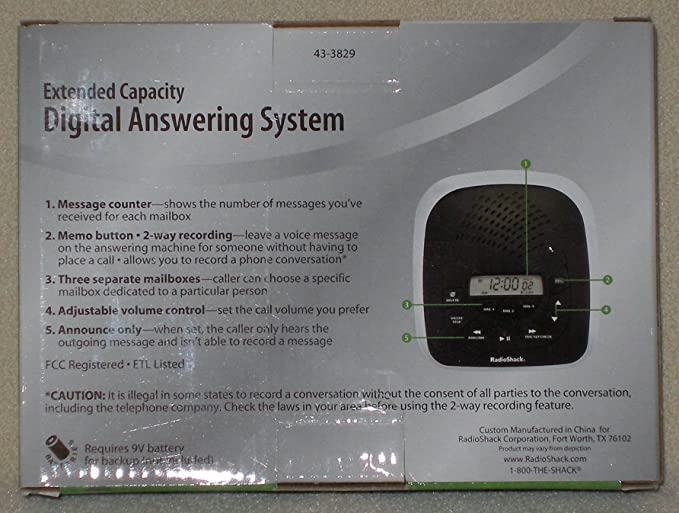 radio shack digital answering machine manual browse manual guides u2022 rh npiplus co radio shack digital answering machine tad-3829 manual Radio Shack Phone Answering System