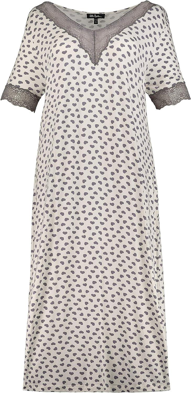 Ulla Popken Femme Grandes Tailles Chemise de nuir imprim/é Coeurs V 727935