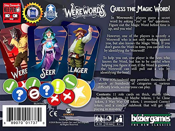 Bezier Games bez00022 werewords Junta Juego: Bezier Games: Amazon ...
