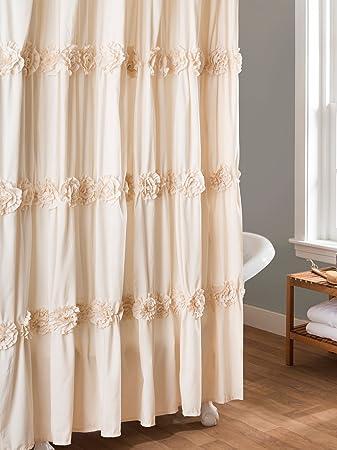 Lush Decor Darla Shower Curtain 72 By Inch Ivory
