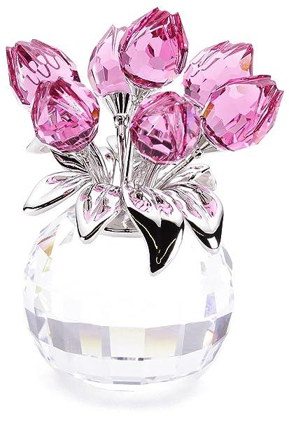 8dcdadc6fff Amazon.com: Swarovski Crystal Rose Tulips: Home & Kitchen