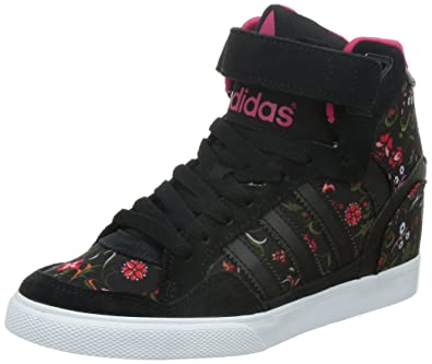 best website 48ed0 fc565 adidas Originals Extaball UP, Baskets Basses Femme, Schwarz Core  Black Vivid Berry S14