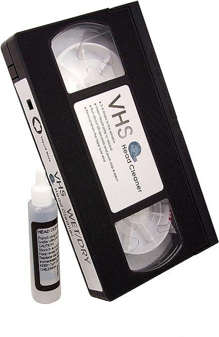 CASSETTE DE NETTOYAGE POUR TETE DE LECTURE VHS: Amazon.es: Electrónica