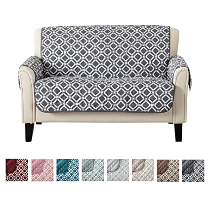 Magnificent Reversible Loveseat Cover Printed Furniture Protectors For Living Room With Secure Straps Protect From Kids Dogs And Pets 54 Loveseat Steel Squirreltailoven Fun Painted Chair Ideas Images Squirreltailovenorg