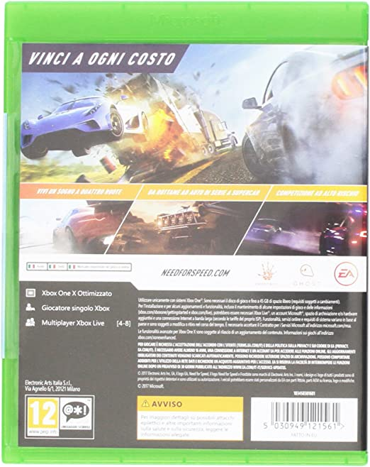 Need for Speed Payback - Xbox One [Importación italiana]: Amazon.es: Videojuegos