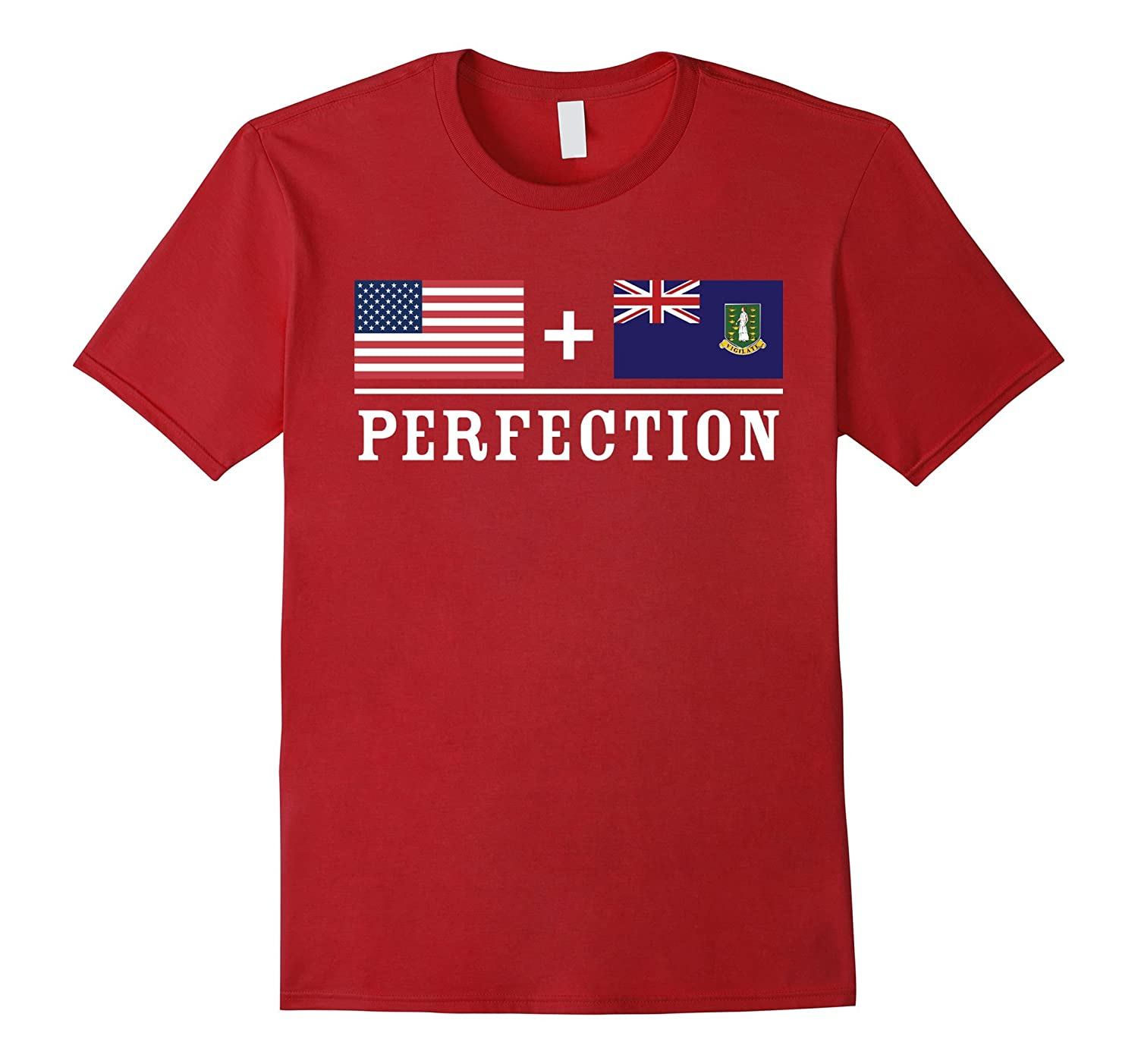 American  UK Virgin Islander  Perfection Flag T-Shirt