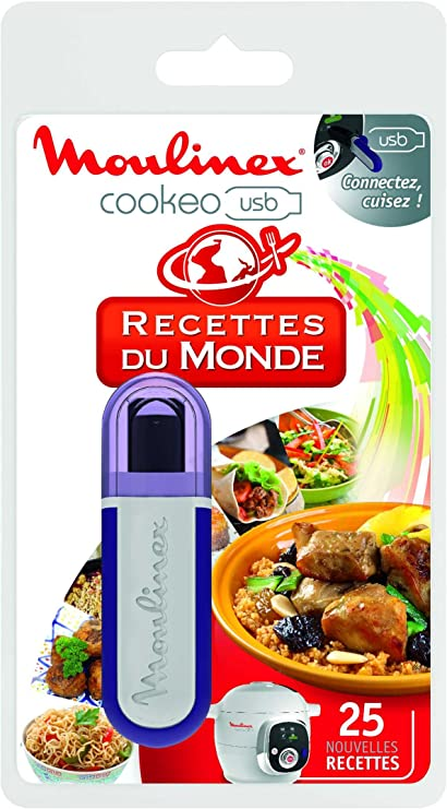 Moulinex Cookeo XA600111 - Llave flash USB con 25 recetas, multicolor: Amazon.es: Hogar