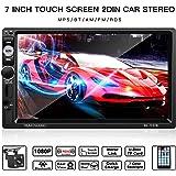 2 Din Autoradio, LESHP 7 Zoll HD 1080P Touchscreen Auto Radio mit Rückfahrkamera, Autoradio MP5 Spieler unterstützt Mirrorlink / Bluetooth / Freisprecheinrichtung/AM / FM / RDS Radio Tuner/USB