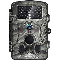 """EARTHTREE Wildkamera Fotofalle, Full HD 1080P 12M Jagdkamera mit 120¡ã Weitwinkel Objektiv Fotofalle, 42 Low Glow Infrarot LEDs, 20m Nachtsicht, 2.4"""" LCD Display, Wasserdichte"""
