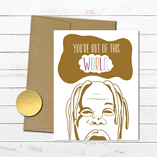 Amazon Travis Scott Birthday Card For Boyfriend Astroworld Anniversary Girlfriend Rapper Her Best Friend Pop Culture