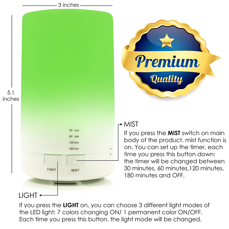 Amazon.com: USB Aromatherapy Essential Oil Diffuser - 2.3 oz (70ml ...