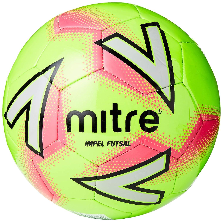 Mitre Impel Futsal Balón de fútbol, Unisex Adulto, Green/Pink, 3 ...