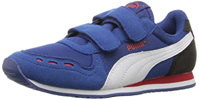 PUMA Kids' Cabana Racer Mesh V PS Chukka, True Blue White, 11.5 M