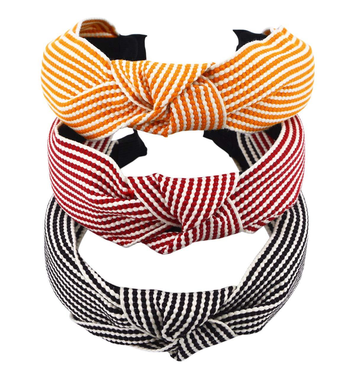 STHUAHE 3 PCS Women Gir Hight Quality Handmade Sweet Style Cloth Cross Knot Hair Hoop Hairband Headband Headwear Hair Accessories by Beauty Hair (3 Color) by STHUAHE