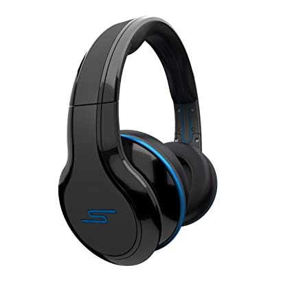 c6ab4a14f17 Amazon.com: STREET by 50 Cent Wired Over-Ear Headphones - Black by SMS Audio:  Home Audio & Theater