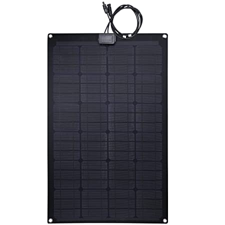 front facing lensun 60w fiberglass monocrystalline solar panel