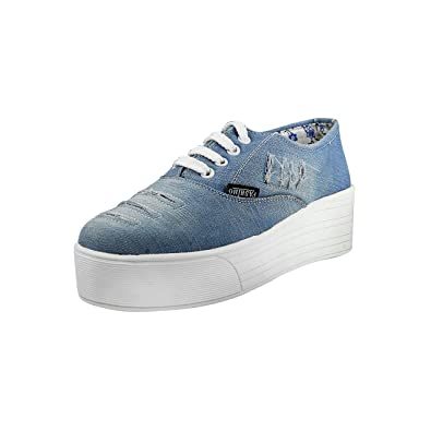 11cc687afb977 FASHIMO Women Blue Denim Casual Shoes  Buy Online at Low Prices in India -  Amazon.in