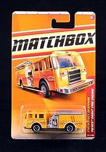 Matchbox Pierce Dash FIRE Engine Yellow Emergency Response Series (#8 of 11) 2011 Basic Die-Cast Vehicle (#56 of 100)