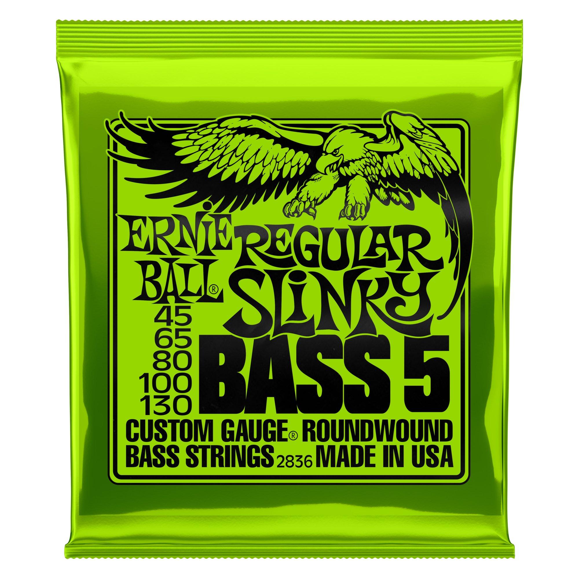 Ernie Ball 5-String Regular Slinky Nickel Wound Bass Set, .045 - .130