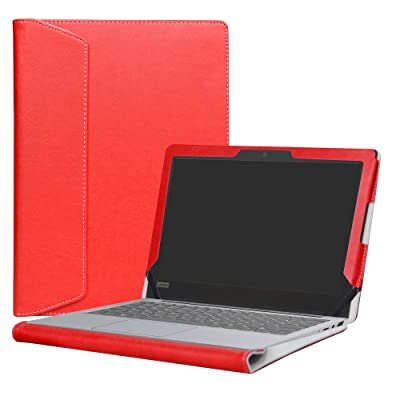 """Alapmk Protective Case Cover For 14"""" ASUS ZenBook 3 Deluxe UX490UA Series Laptop(Such as UX490UA-XH74-BL UX490UA-XS74-BL),Red"""