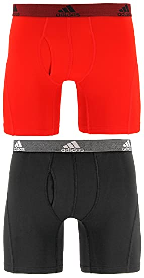 Adidas Hombre Relajado Performance Climalite Boxer Breve Ropa Interior (2 Unidades), Hombre,