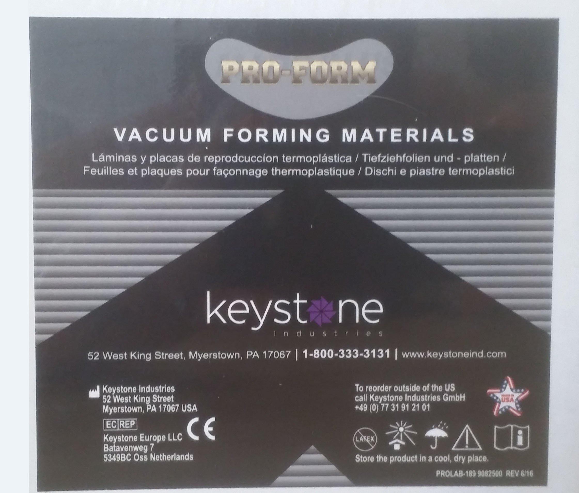 Dental Laboratory Laminate Vacuum Forming SOFT EVA .080 2mm Pack/25 PROFORM