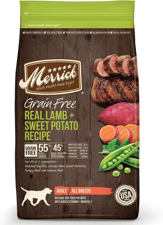 Merrick Grain Free Dry Dog Food Recipes, Real Lamb, 4