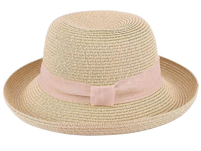 67112e1aa1097c Jasmine Sun Protection Hat Women's Lightweight Packable Bucket Straw Hat ,Beige