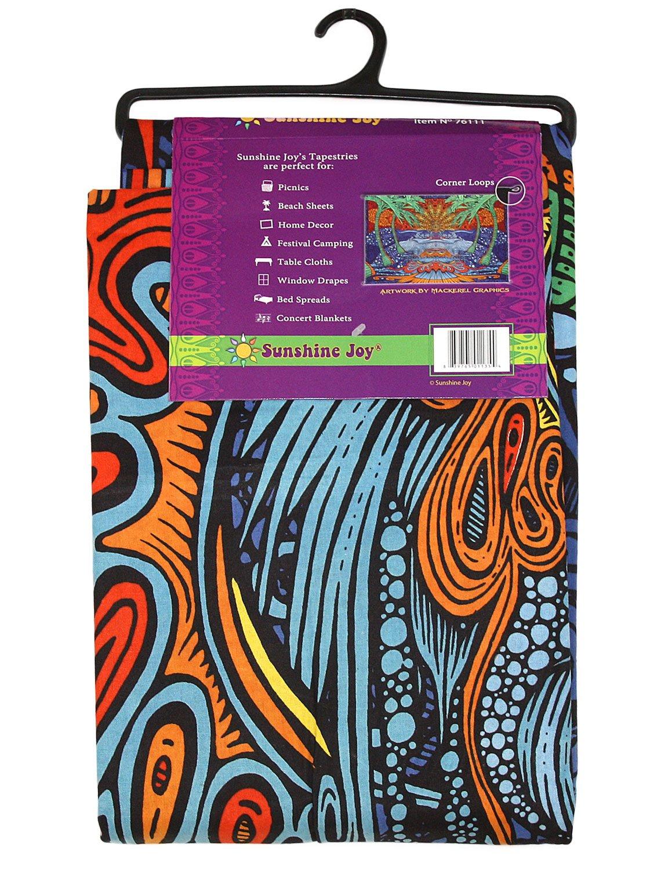 Amazon.com: Sunshine Joy 3D Epic Tropical Paradise Surf Wave Palm Tree  Tapestry Tablecloth Beach Sheet Wall Art Huge 60 X 90 Inches   Classic:  Home U0026 ...