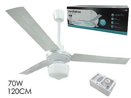 Plafoniere Con Pale : Ventilatore da soffitto pale con comando a muro e lampadario