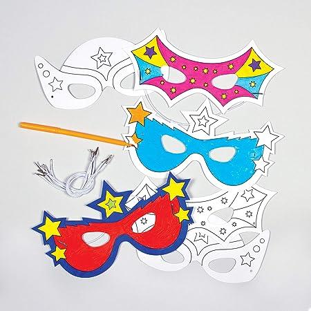 Baker Ross Caretas Máscaras de Superhéroe para Colorear ...