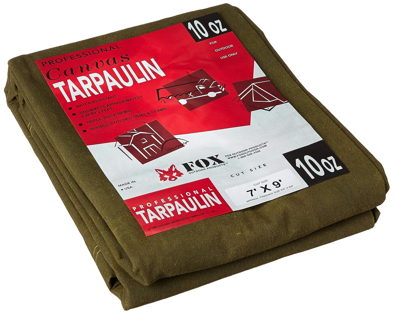 7 x 9 Olive Drab Canvas Tarpaulin Chicago Dropcloth B004CN72NY