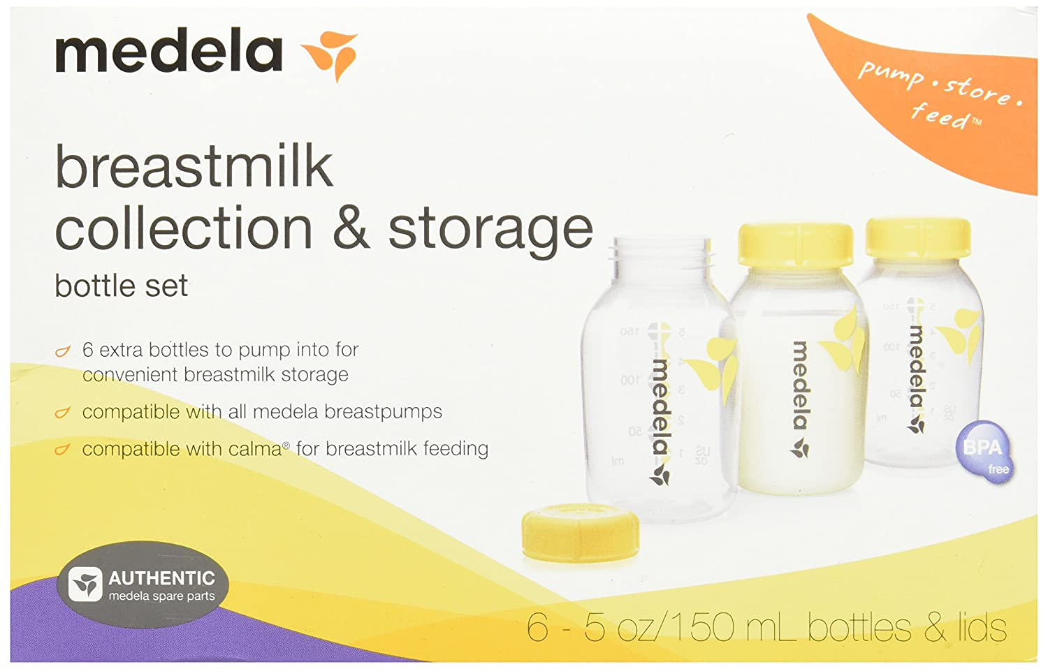 Medela Breast Milk Collection and Storage Bottles, 5 Ounce ...