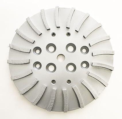 "NEW 10"" Pro Turbo Concrete Grinding Head Disc Plate for Edco, Husqvana, MK"