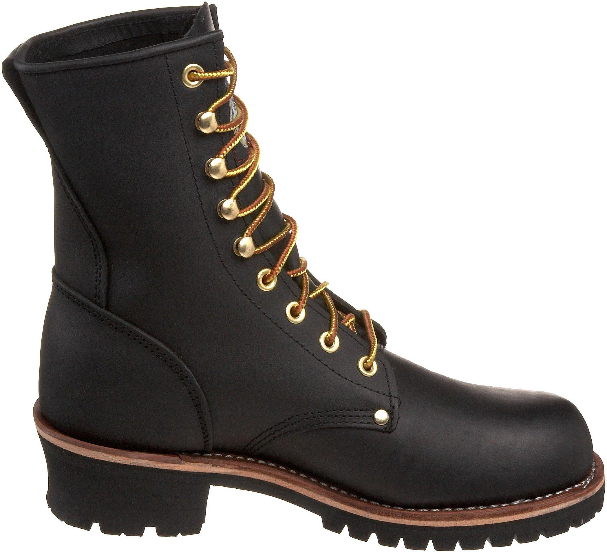 Georgia Boot Men's Logger 8'' Black Non Steel,Oily Black,5 M US by Georgia Boot (Image #6)
